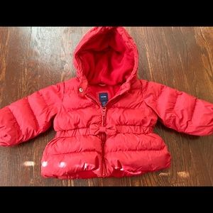 Gap coat with bow detail. Adorable! 6-12 months.